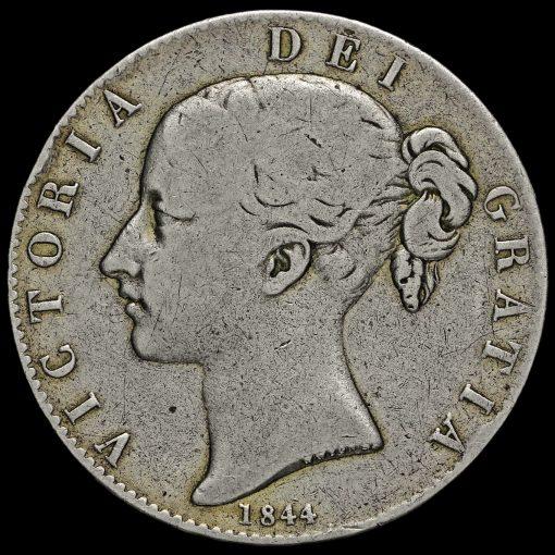 1844 Queen Victoria Young Head Silver Crown Obverse