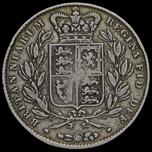 1844 Queen Victoria Young Head Silver Crown Reverse