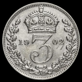 1902 Edward VII Silver Threepence Reverse