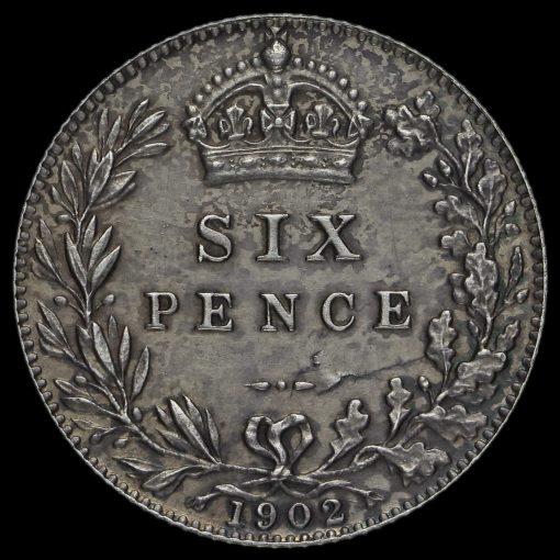 1902 Edward VII Silver Sixpence Reverse