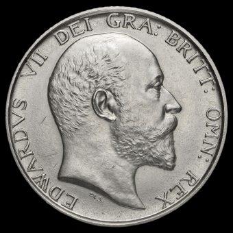 1902 Edward VII Silver Matt Proof Shilling Obverse
