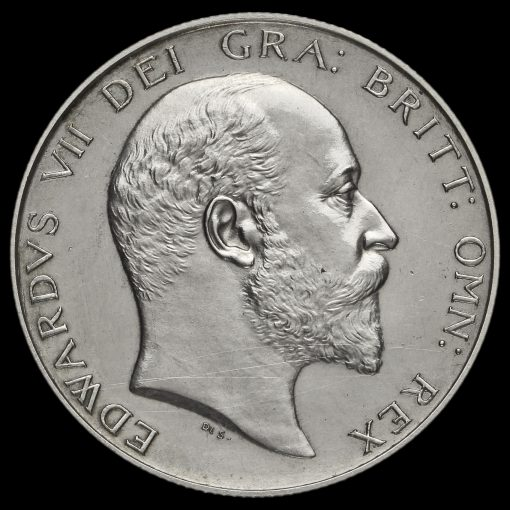 1902 Edward VII Silver Matt Proof Half Crown Obverse