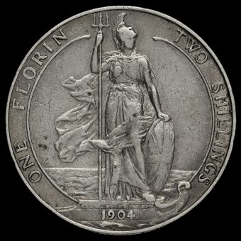 1904 Edward VII Silver Florin Reverse