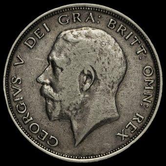 1912 George V Silver Half Crown Obverse