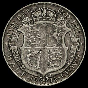 1912 George V Silver Half Crown Reverse