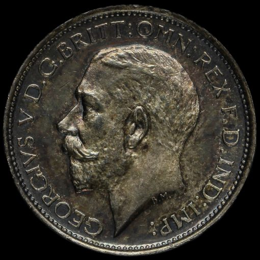 1913 George V Silver Maundy Fourpence Obverse