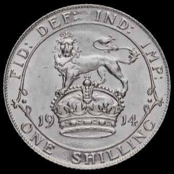 1914 George V Silver Shilling Reverse
