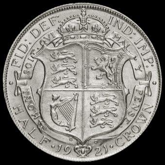 1921 George V Silver Half Crown Reverse