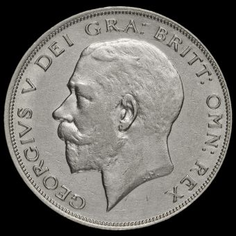 1921 George V Silver Half Crown Obverse