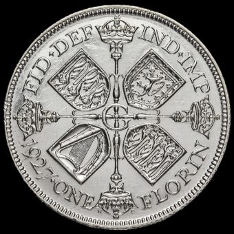 1927 George V Silver Florin Reverse