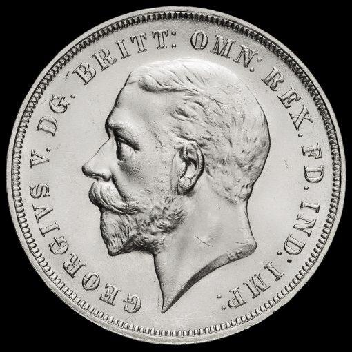 1935 King George V Rocking Horse Silver Jubilee Crown Obverse