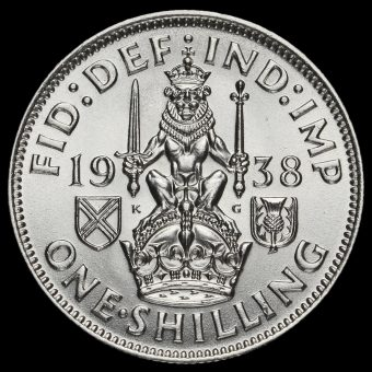 1938 George VI Silver Scottish Shilling Reverse