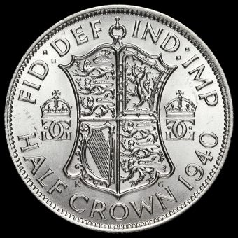 1940 George VI Silver Half Crown Reverse
