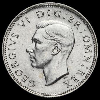1944 George VI Silver Scottish Shilling Obverse
