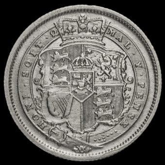 1816 George III Milled Silver Shilling Reverse