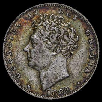 1829 George IV Milled Silver Sixpence Obverse