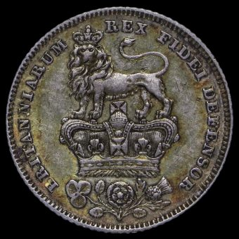 1829 George IV Milled Silver Sixpence Reverse