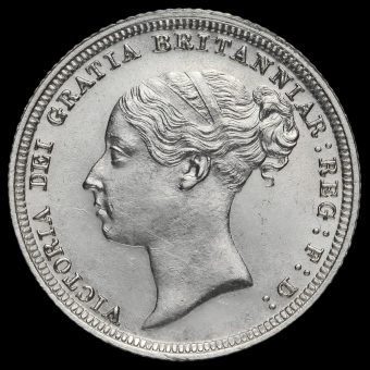 1887 Queen Victoria Young Head Silver Sixpence Obverse
