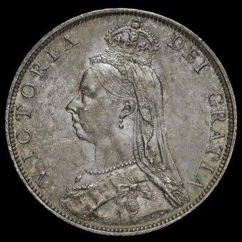 1888 Queen Victoria Jubilee Head Silver Florin Obverse