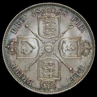 1888 Queen Victoria Jubilee Head Silver Florin Reverse