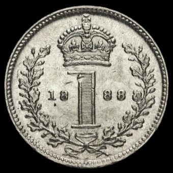 1888 Queen Victoria Jubilee Head Silver Maundy Penny Reverse