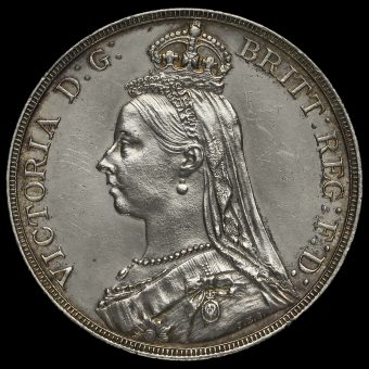 1889 Queen Victoria Jubilee Head Silver Crown Obverse