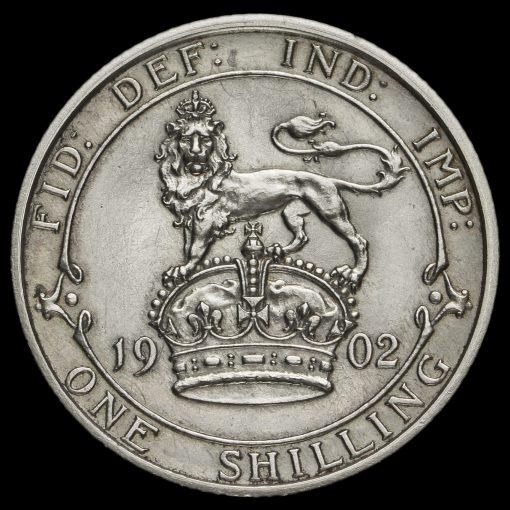 1902 Edward VII Silver Matt Proof Shilling Reverse