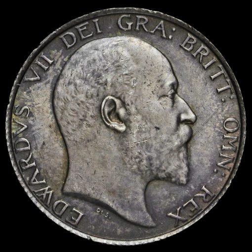 1902 Edward VII Silver Shilling Obverse