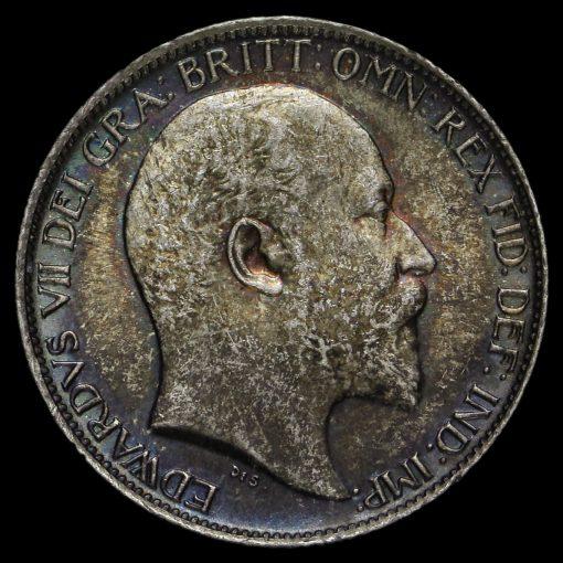 1903 Edward VII Silver Sixpence Obverse