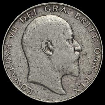1910 Edward VII Silver Half Crown Obverse