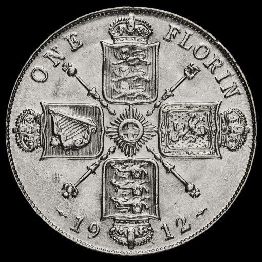 1912 George V Silver Florin Reverse