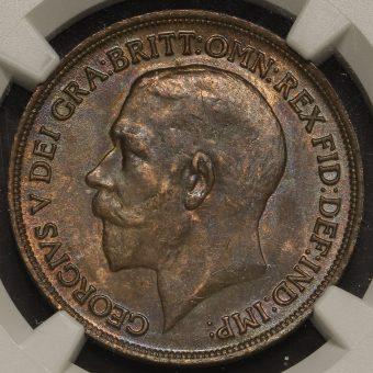 1914 George V Penny Obverse