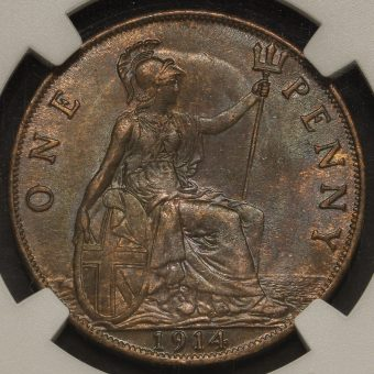 1914 George V Penny Reverse