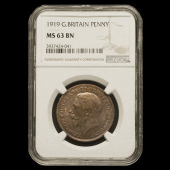 1919 George V Penny MS 63