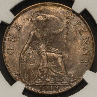 1919 George V Penny Reverse
