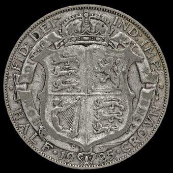 1925 George V Silver Half Crown Reverse