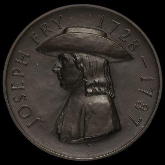 1928 Joseph Fry & Sons Ltd Bronze Bicentenary Medal Obverse