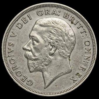 1928 George V Silver Wreath Crown Obverse