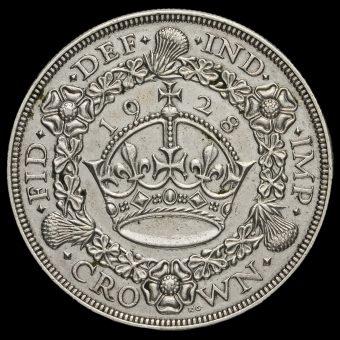 1928 George V Silver Wreath Crown Reverse