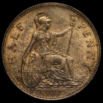 1932 George V Halfpenny Reverse