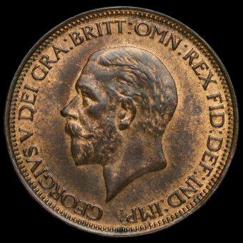 1933 George V Halfpenny Obverse