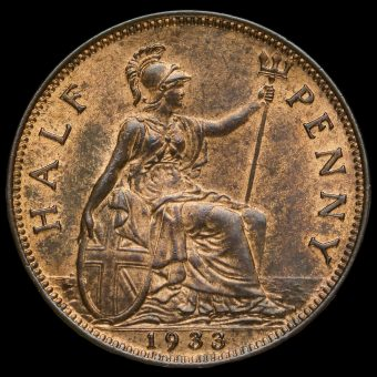 1933 George V Halfpenny Reverse