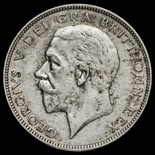 1936 George V Silver Half Crown Obverse
