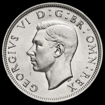 1937 George VI Silver Half Crown Obverse