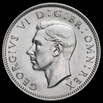 1937 George VI Silver Scottish Shilling Obverse