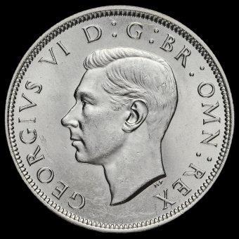 1938 George VI Silver Half Crown Obverse