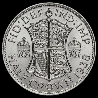 1938 George VI Silver Half Crown Reverse
