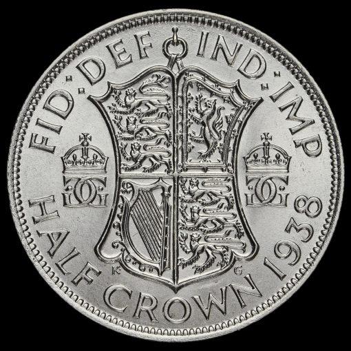 1938 George VI Silver Half Crown Reverse