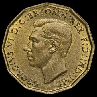 1941 George VI Brass Threepence Obverse