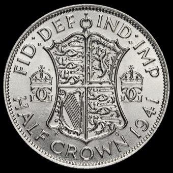 1941 George VI Silver Half Crown Reverse